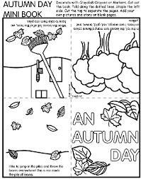 autumn mini book coloring crayola