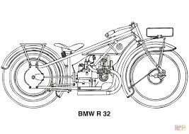 bmw r32 motorcycle coloring page free printable coloring pages