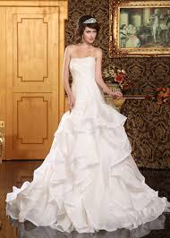 fit and flare wedding dress luxurious ruffled organza fit flare wedding dress