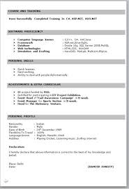 simple resume format for freshers documents resume format exles for freshers exles of resumes