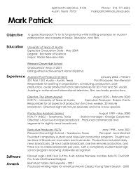 Sample Of An Excellent Resume Effective Resume Sample For Film Industry Like Film Production