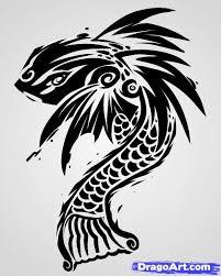 learn how to draw a tribal fish tribal koi tribal pop