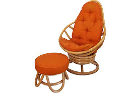 Swivel Rocking Chair With Ottoman Retro Rattan Swivel Rocker With Ottoman Omero Home