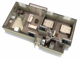 Simple 2 Bedroom House Plans by Interior 3d Two Bedroom House Layout Design Plans 3 Of 17 Photos