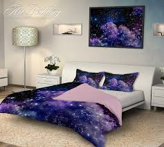 galaxy bedding night sky with stars bedding set white clouds on