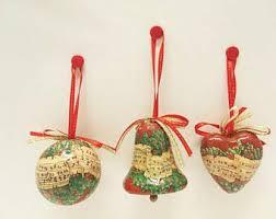 decoupage ornament etsy