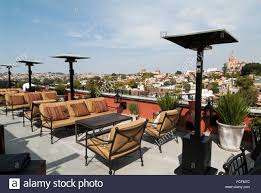 roof terrace at the rosewood hotel in san miguel de allende