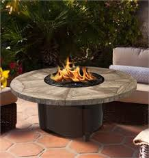 Fire Pit With Glass by Fire Pit Table Outdoor Carmel Round Chat Height With American Fire