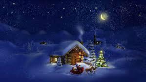 christmas tree snow night ne wall
