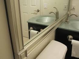 Mirror In A Bathroom Framing A Bathroom Mirror With Moulding Home Interior Ekterior Ideas