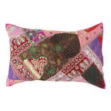 indian cushion cover pillow sham embroidered home decor cotton