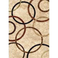 7 X 10 Rugs On Sale Orian Rugs Soft Shag Circle Of Life Bisque Area Rug Walmart Com