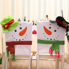 snowman chair covers 1pcs mr miss snowman chair cover christmas dinner table home