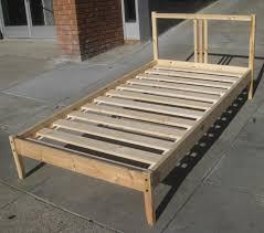 bed frame ikea metal twin frame platform interalle wooden slat bed