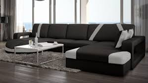canapé design d angle canapé design panoramique d angle en cuir utena gdegdesign