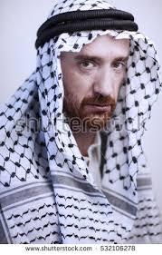 arab wrap angry arab beard stock photo 532106278