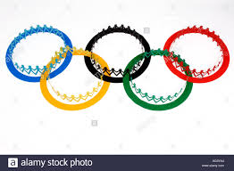 Flag People Olympic Flag And Paper Chain People Stock Photo Royalty Free