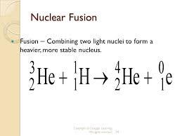nuclear fusion equation tessshlo