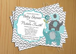 Baby Welcome Invitation Cards Templates Chevron Baby Shower Invitation Boy Teal Tiffany Free Thank You