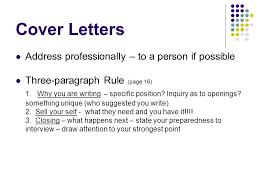 résumés and cover letters ppt video online download