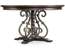 hooker furniture treviso round dining table with wrought iron