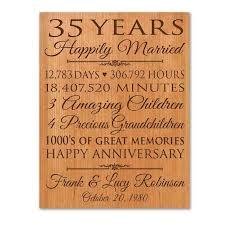 wedding gift greetings 35 yrs wedding anniversary gift ideas bethmaru