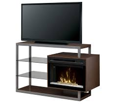 hazelwood electric fireplace media console w acrylic ice