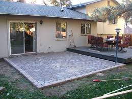 backyard patio pavers concrete square paver curved patios