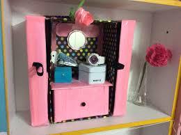 diy makeup acessories organizer shoe box carton recycled you