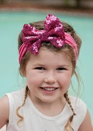 headband with bow the hair bow company sequin bow headbands in solid colors for