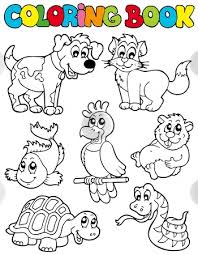 coloring fascinating pet coloring sheets 02 dog 001