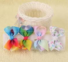 hair bobbles 20pcs 7cm pastel flora ombre rainbow ribbon hair