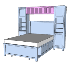 Ana White Pottery Barn Bed Ana White Hailey Hutch For Twin And Full Beds Diy Projects