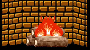 8 bit christmas fireplace nes style youtube