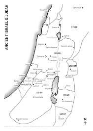 Isreal Map Map Of Israel U0026 Judah Visual Unit