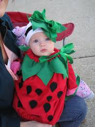 homemade infant strawberry costume kids pinterest