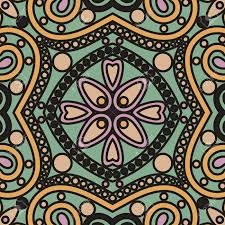 vector seamless abstract orient floral lace mandala tile pattern