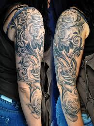 roses sleeve by gettattoo on deviantart