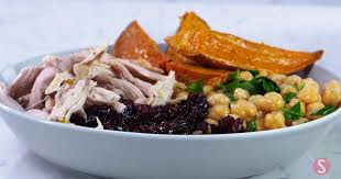turn thanksgiving leftovers into healthy chickpea grain bowl