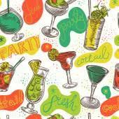 colorful sketch cocktails u2014 stock vector 94211274