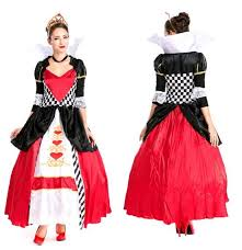 Halloween Clothes Halloween Costume Queen Of Hearts Poker Casino Nightclub Ds Fitted