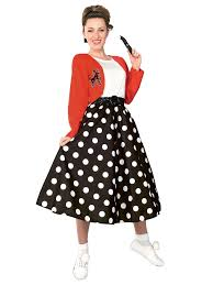 poodle skirt halloween costume polka dot rocker costume womens 50s halloween costumes