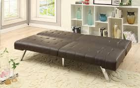 f6823 espresso convertible sofa bed by poundex