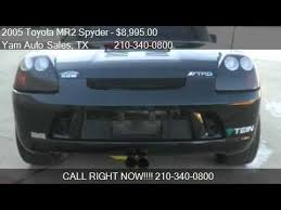 toyota mr2 fog lights 2005 toyota mr2 spyder convertible for sale in san antonio youtube