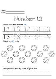 Number 2 Tracing Worksheet Number 13 Worksheet For Elementary Kiddo Shelter