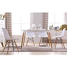 Dining Room Armchairs Amazon Com Greenforest Eames Chair Natural Wood Legs Cushion