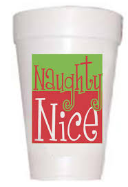 christmas styrofoam cups naughty or nice cups holiday cups