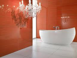 bathroom amazing red bathroom ideas using oval white bathtub