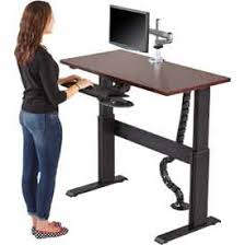standing desk cable management adjustable standing desks www globalindustrial ca
