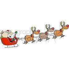 santa sleigh and reindeer royalty free santa in his sleigh and his reindeer 380551 vector